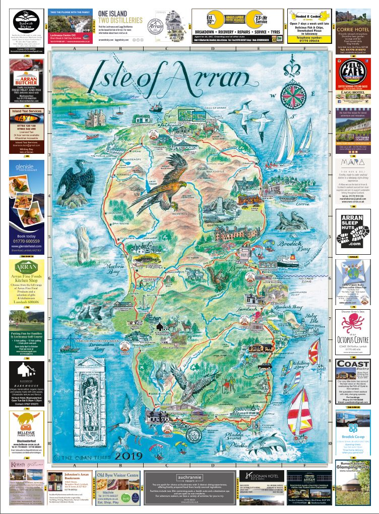 Isle of Arran & Arran Towns Maps 2019