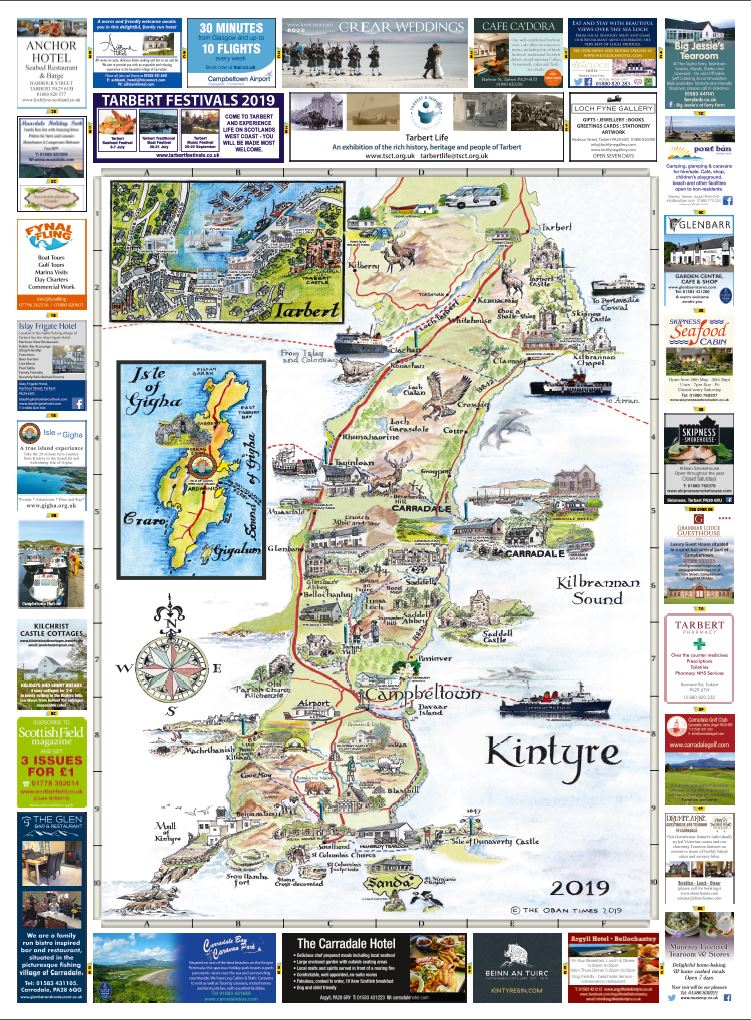 Campbeltown & Kintyre Maps 2019