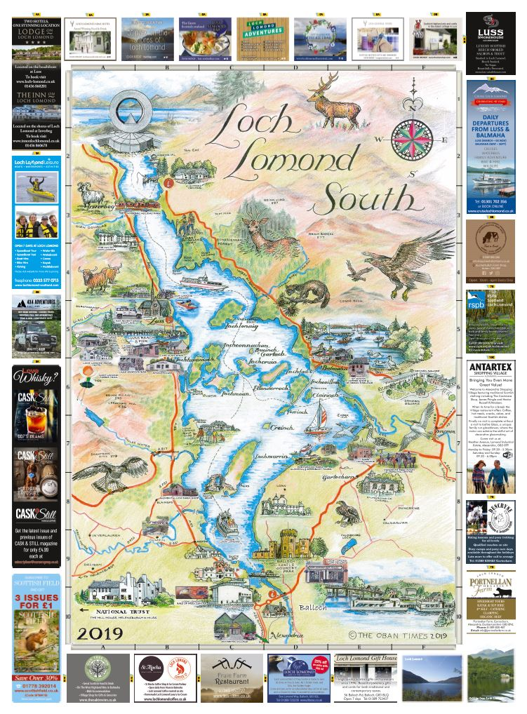 Loch Lomond North & South Maps 2019