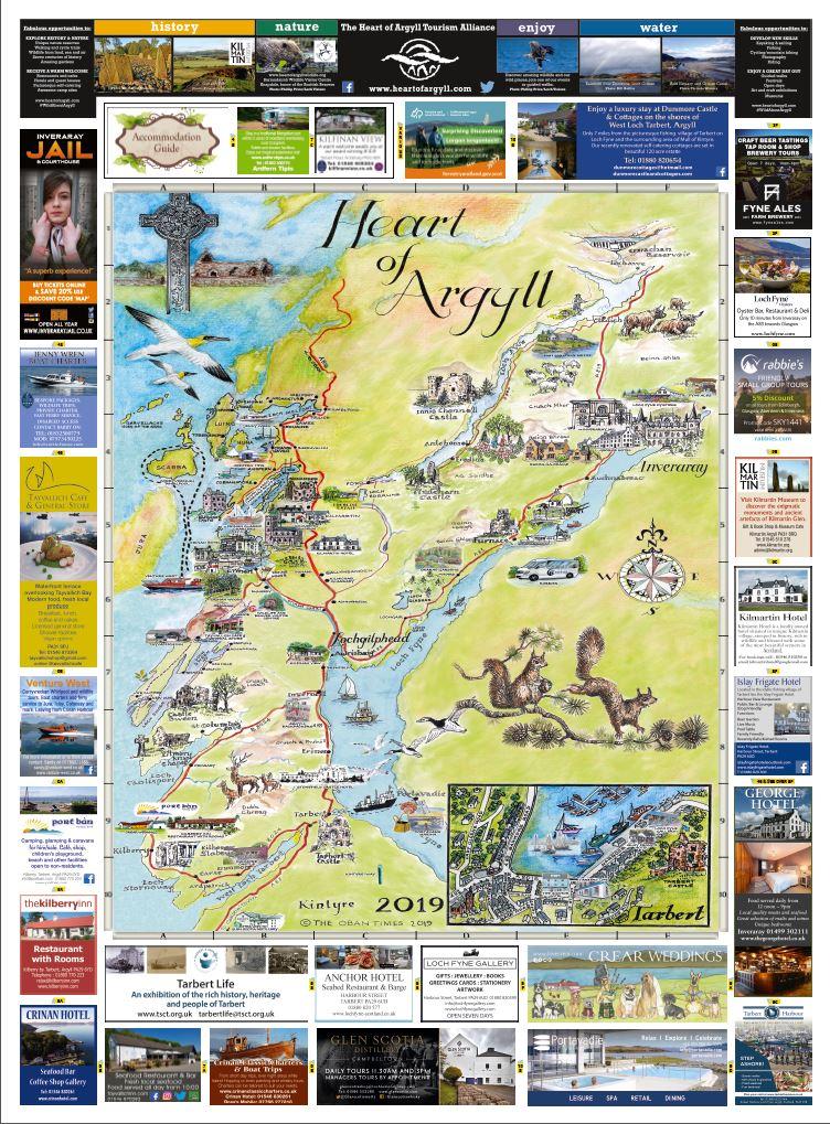 Mid Argyll & Lochgilphead Maps 2019