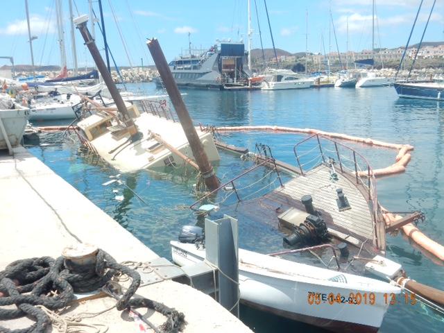 Former Oban boat sinks in Tenerife