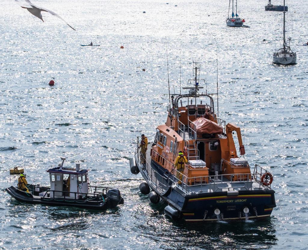 RNLI goes to aid of fish farm vessel