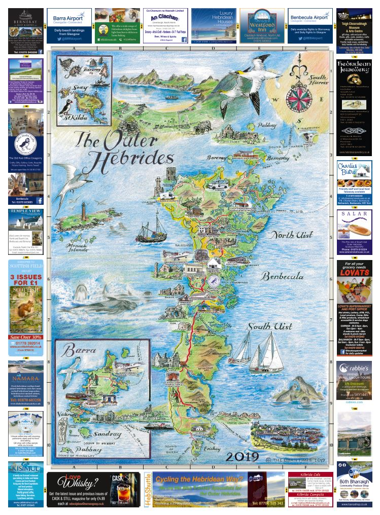 Western Isle Map 2019 (North and South)