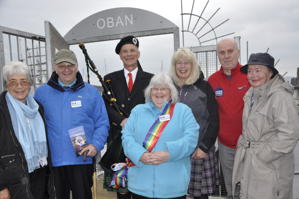 Cruise ship gets warm Oban welcome