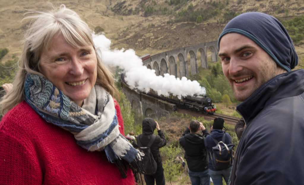 TV crew on hand as upgraded Glenfinnan Viaduct Trail opens