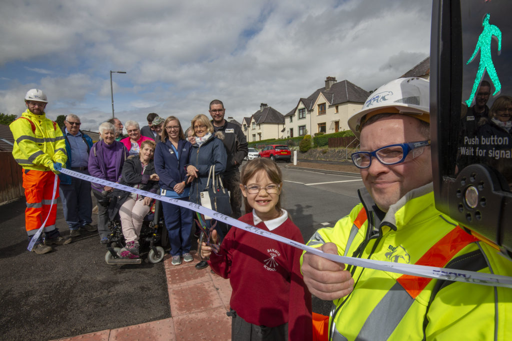 Katie does the honours at new Corpach crossing