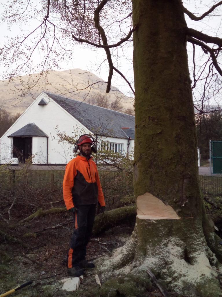 Kenny's arboreal antics aid Ardgour Primary