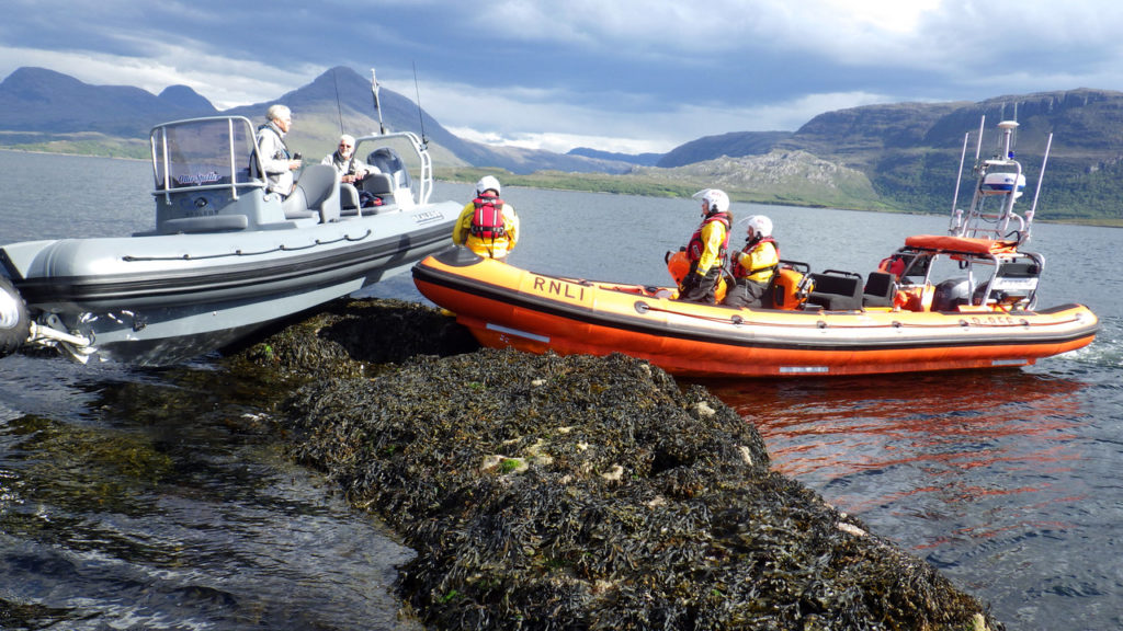 Kyle of Lochalsh and Portree lifeboats called to vessel aground