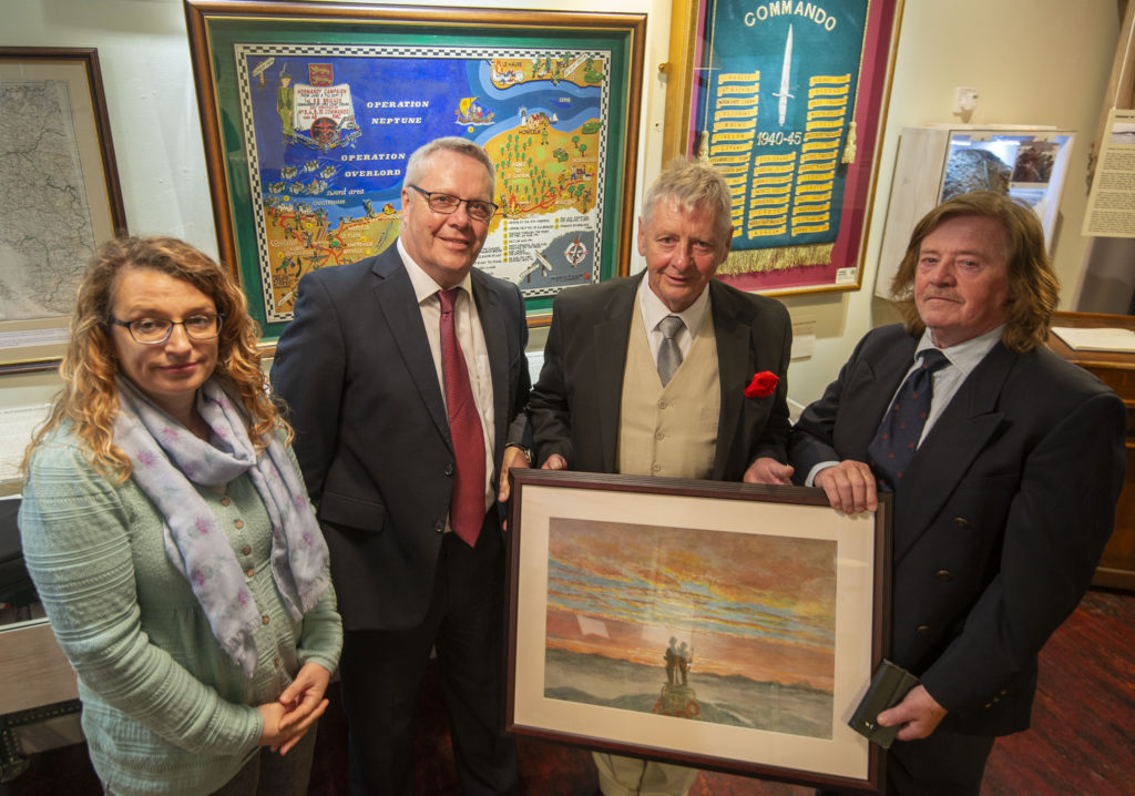 Commando painting gifted to Fort museum