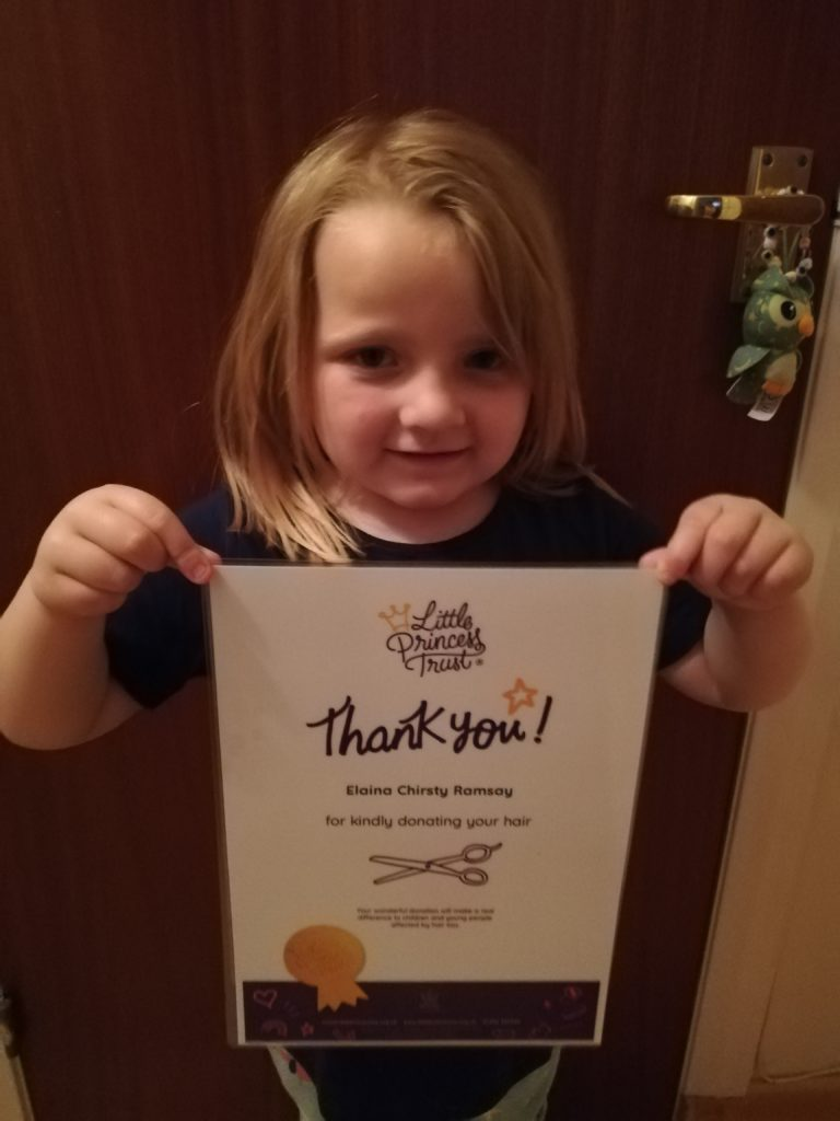 Oban tot receives big thank you from children's charity