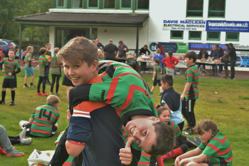 Oban Lorne mini rugby team say goodbye to Allan