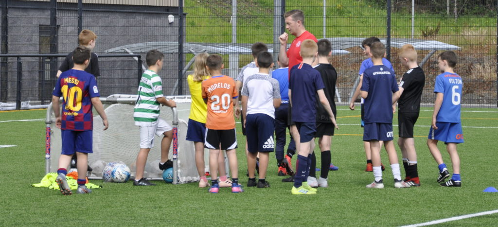 Dozens of youngsters enjoy Oban football camp