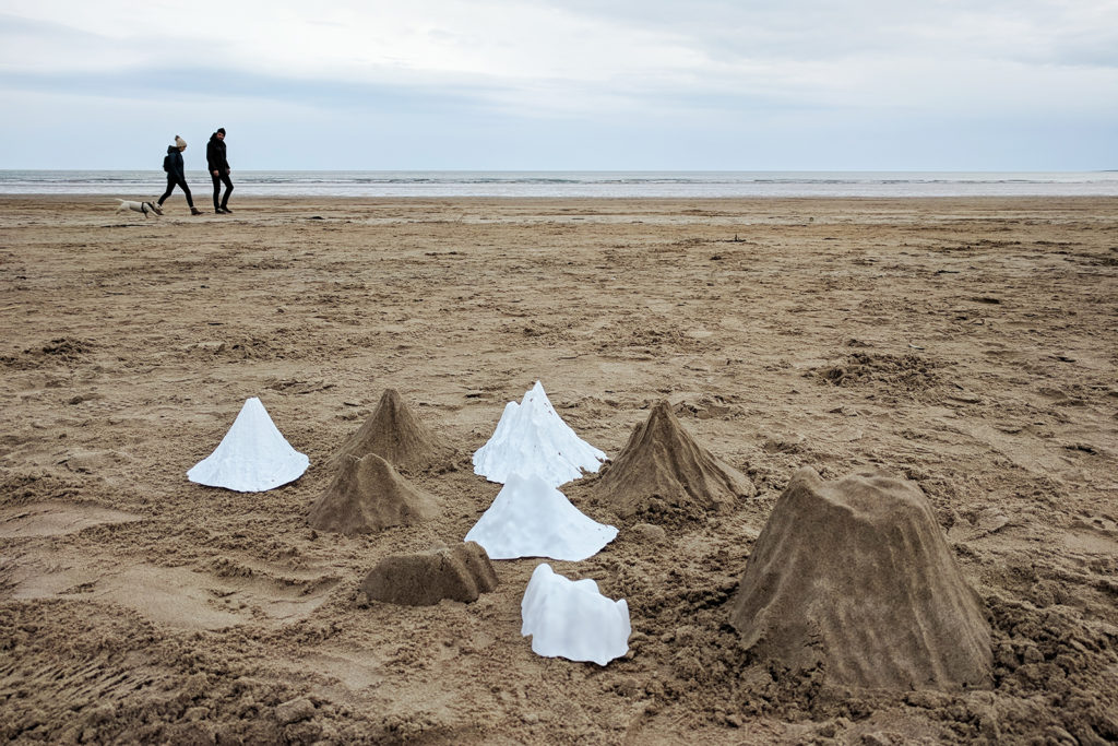 Artist takes mountain sand castle project to Glenbrittle Beach