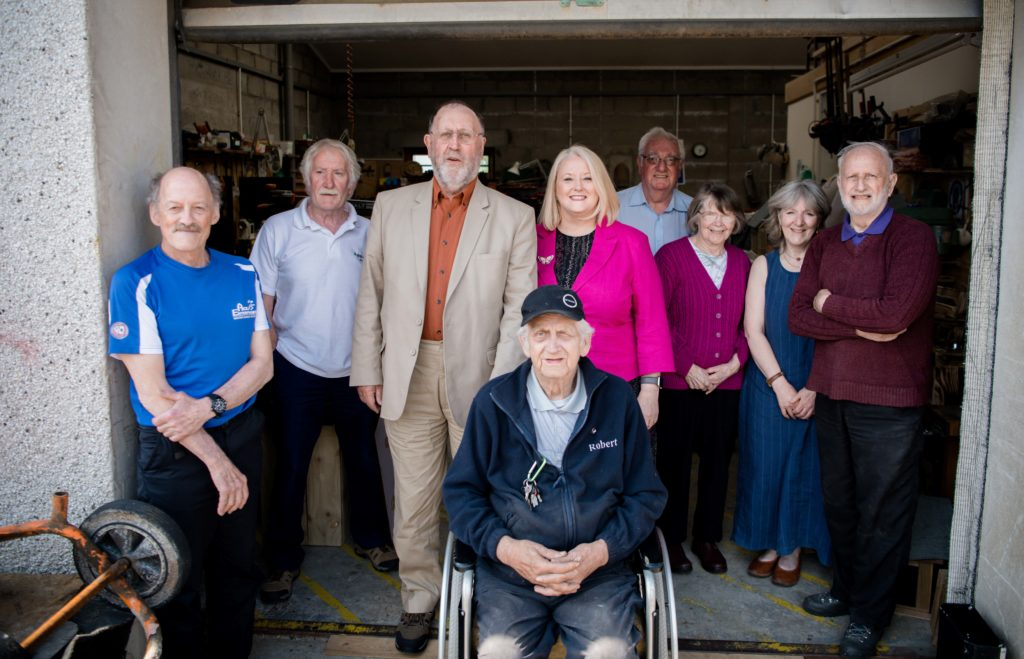 Minister pays Fort William Men's Shed a visit