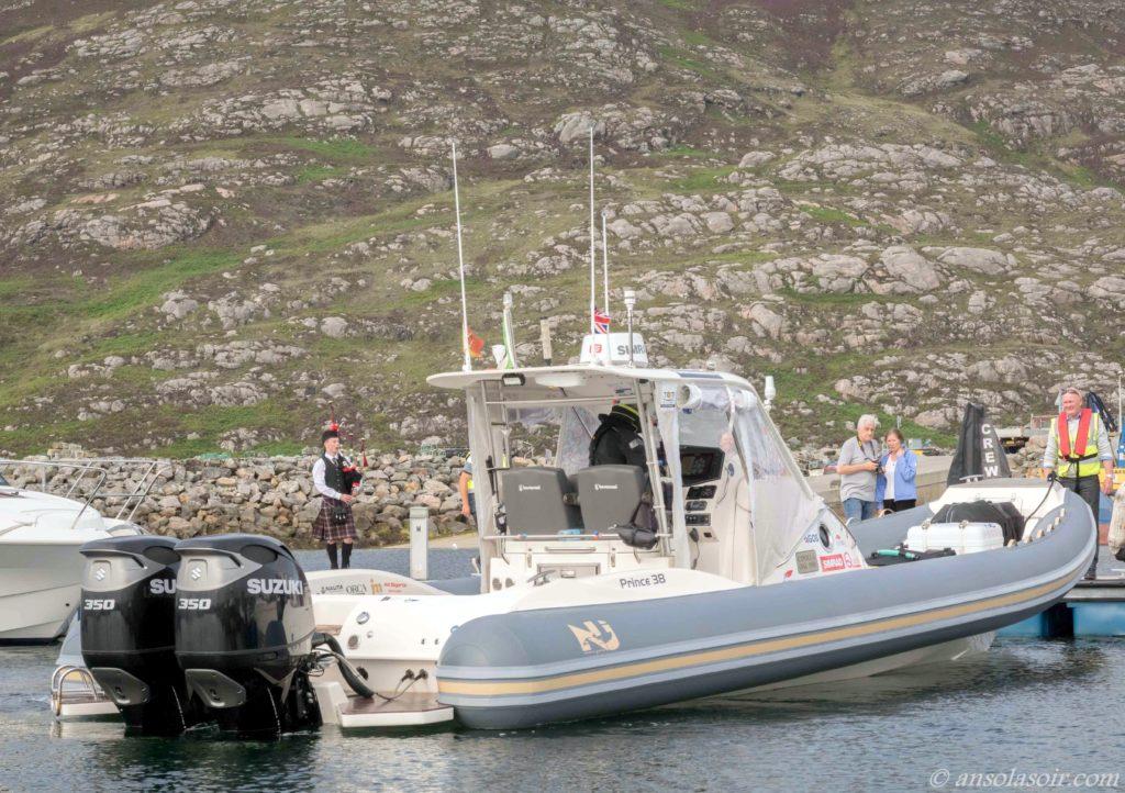 Ice RIB Challenge arrives at Lochboisdale Harbour