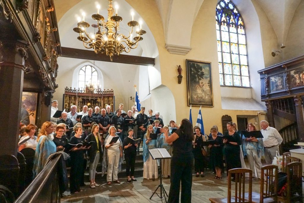 Oban Gaelic Choir on song in Estonia