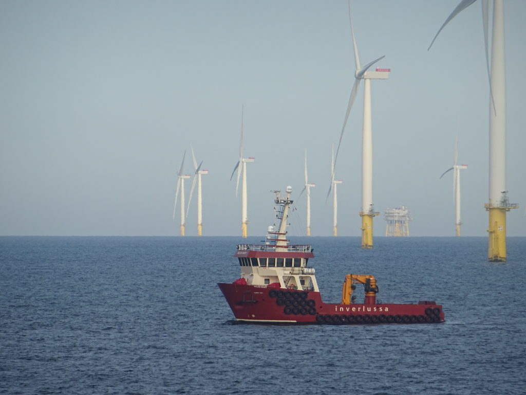 Inverlussa Marine Services completes North Sea wind farm inspections