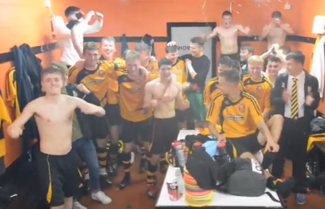 WATCH: Fans and players celebrate historic victory at Claggan Park