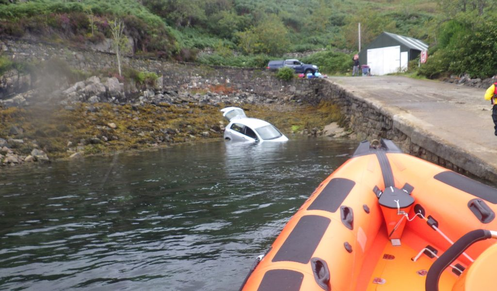 Kyle RNLI called out to a car submerged in the sea off Skye coast