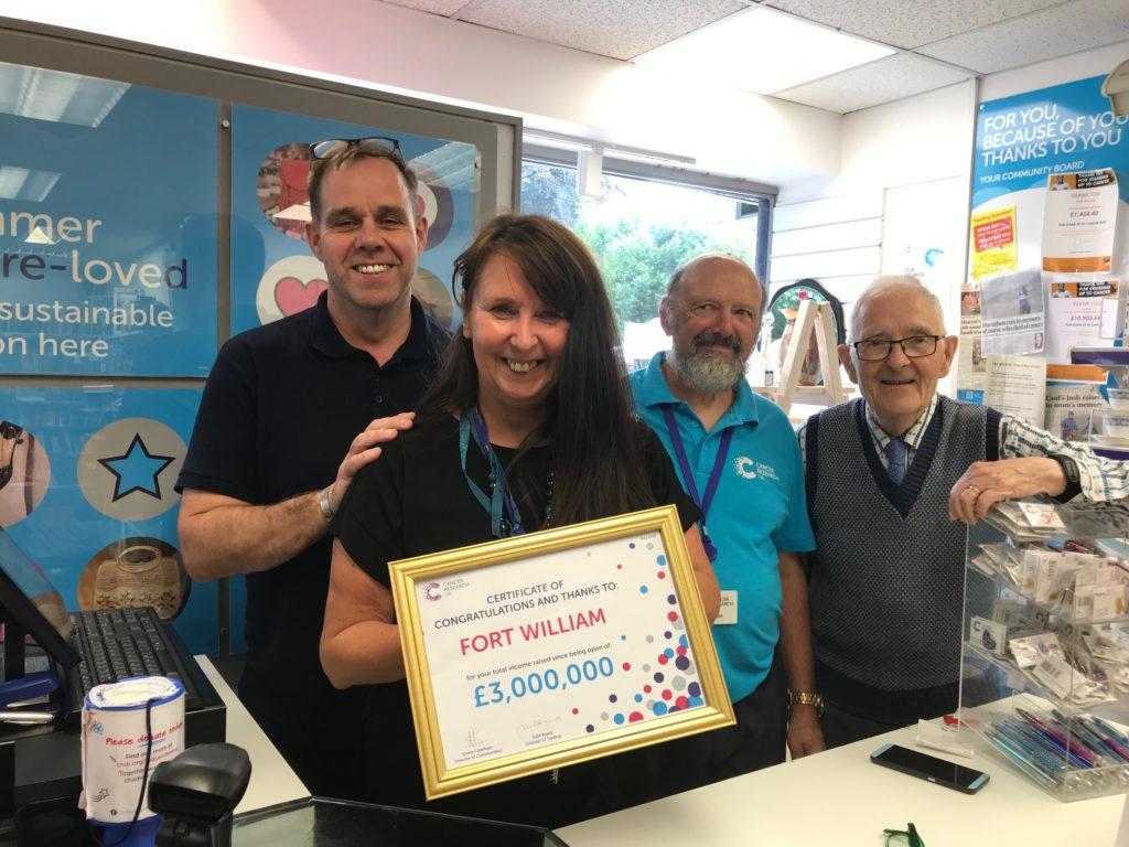 Fort charity volunteers celebrate raising £3million