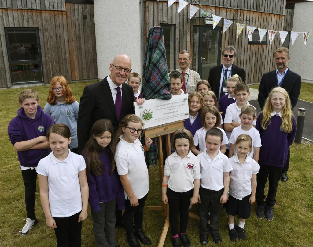 John Swinney opens community-built Primary School