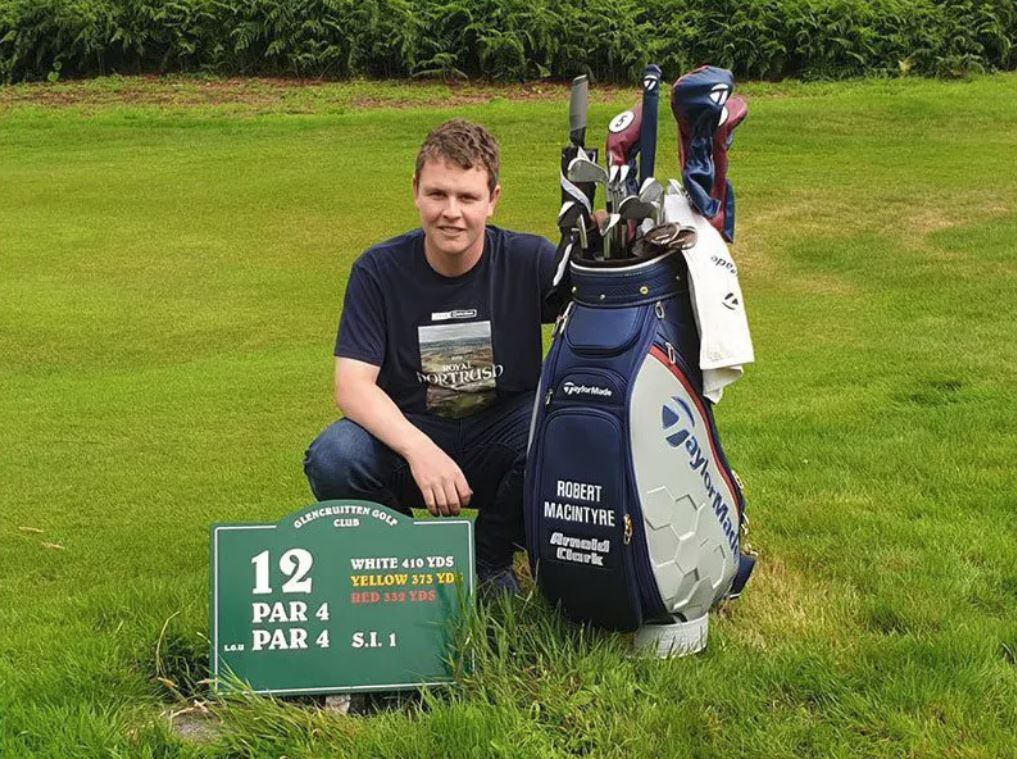 Robert MacIntyre auctions off special golf bag to aid Fort shinty player