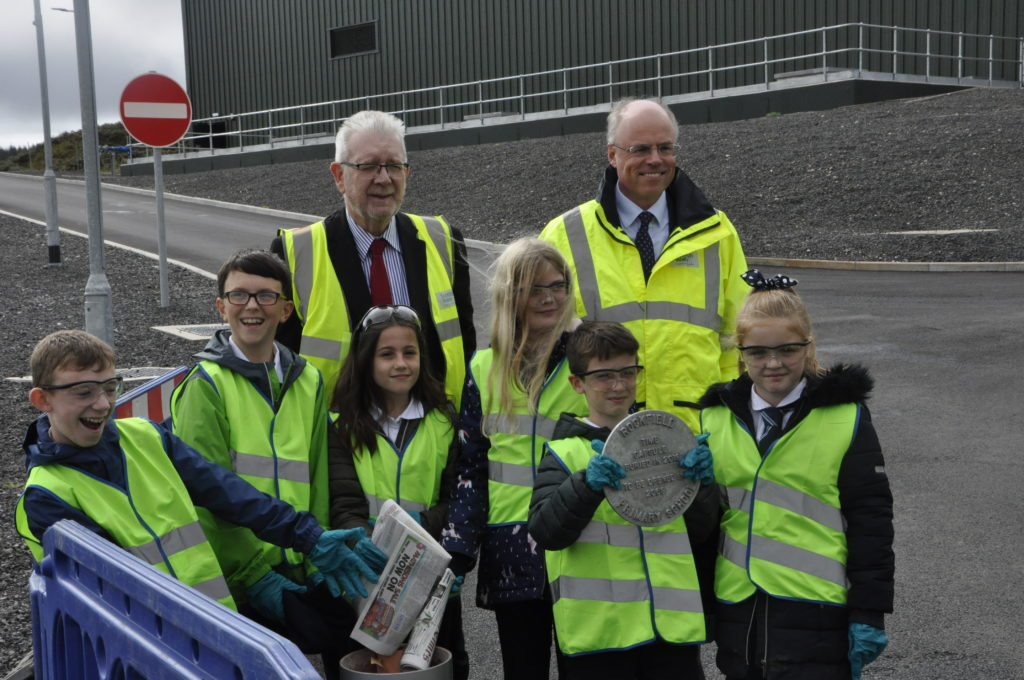 Pupils make time for water treatment facility