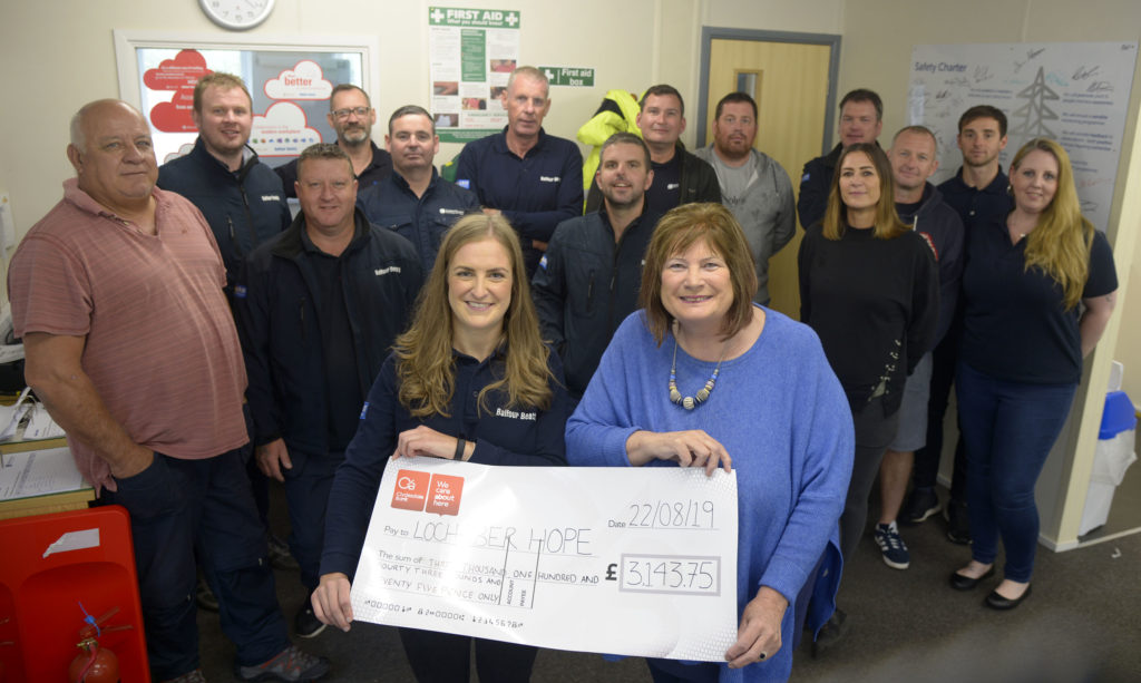 Balfour Beatty donation to Lochaber Hope