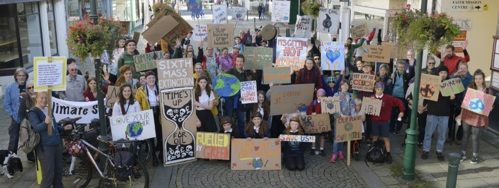Youngsters walk out for their future in Fort climate strike