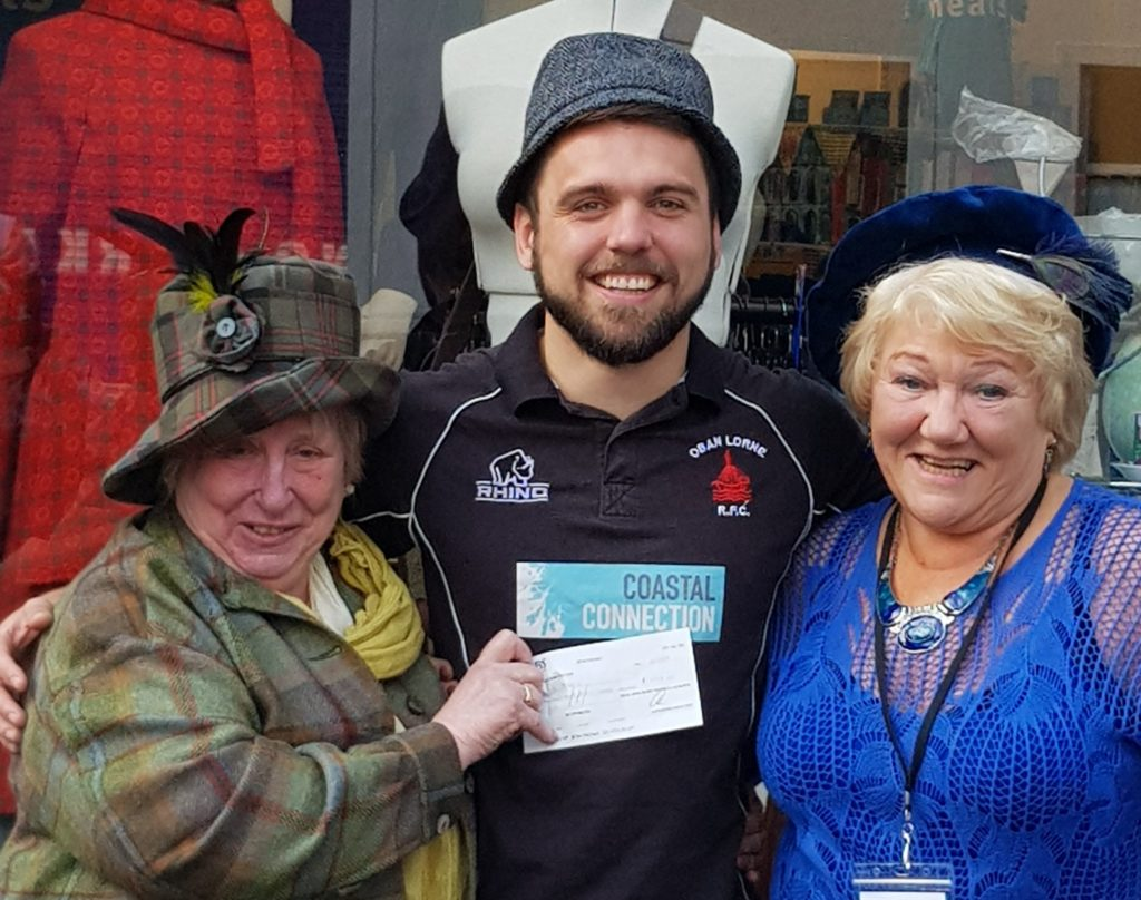 Oban rugby players dress to impress for local charity