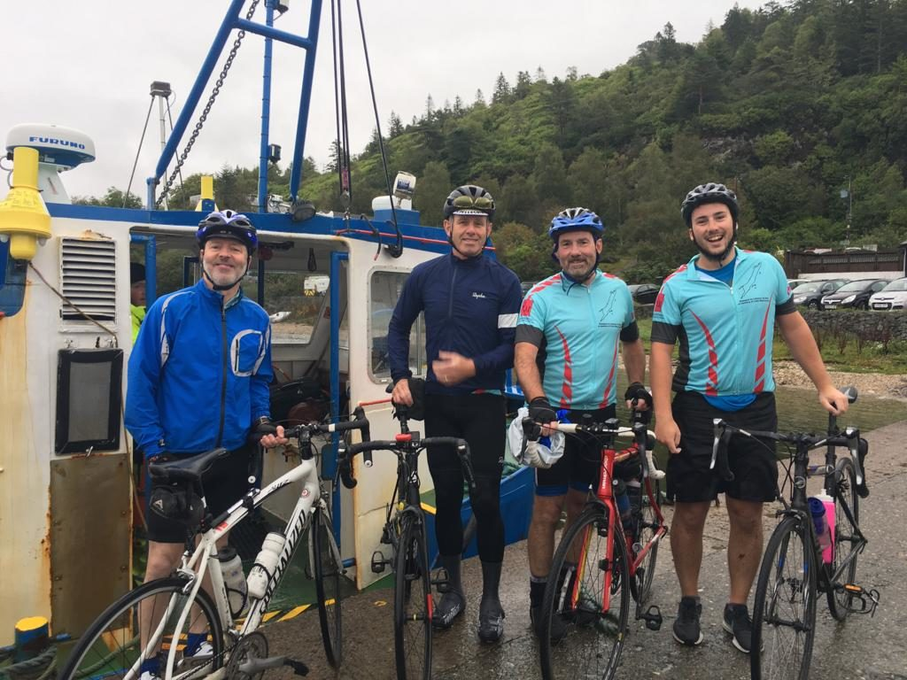 Cyclists raise funds for brain tumour charity in memory of John