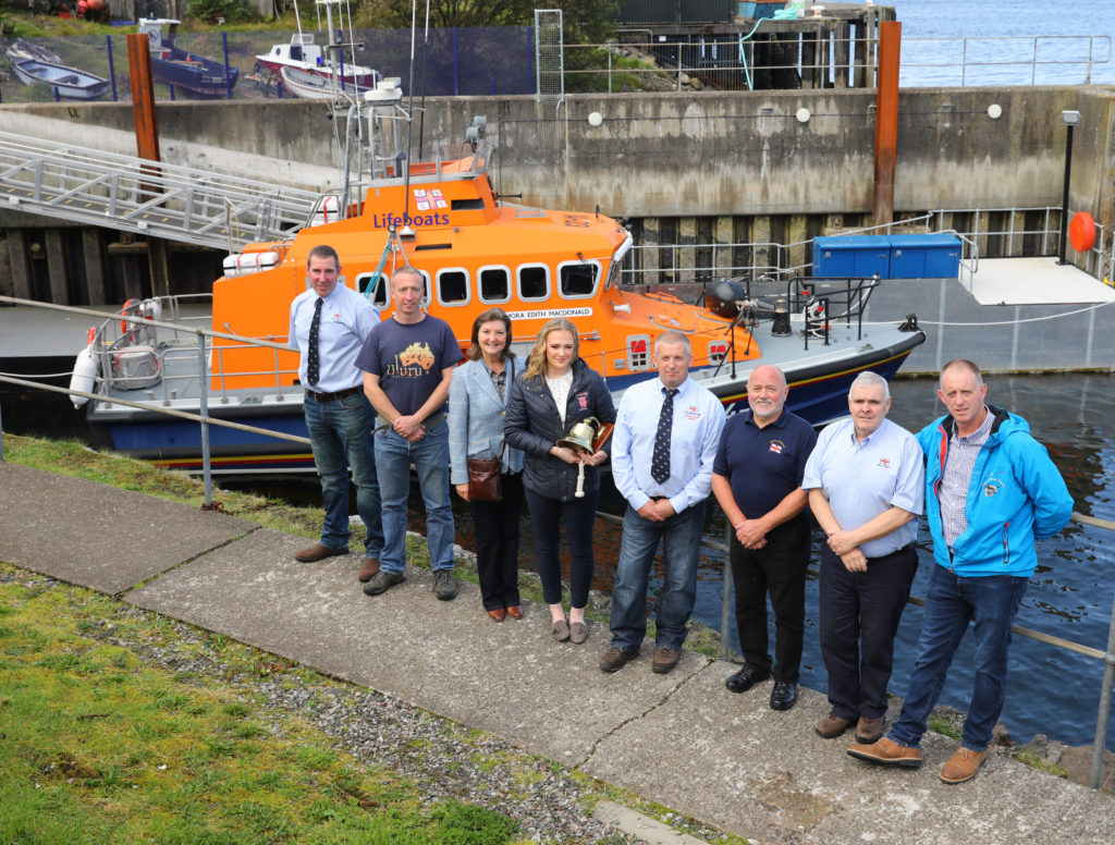 Birthday bell for baby born on Oban lifeboat