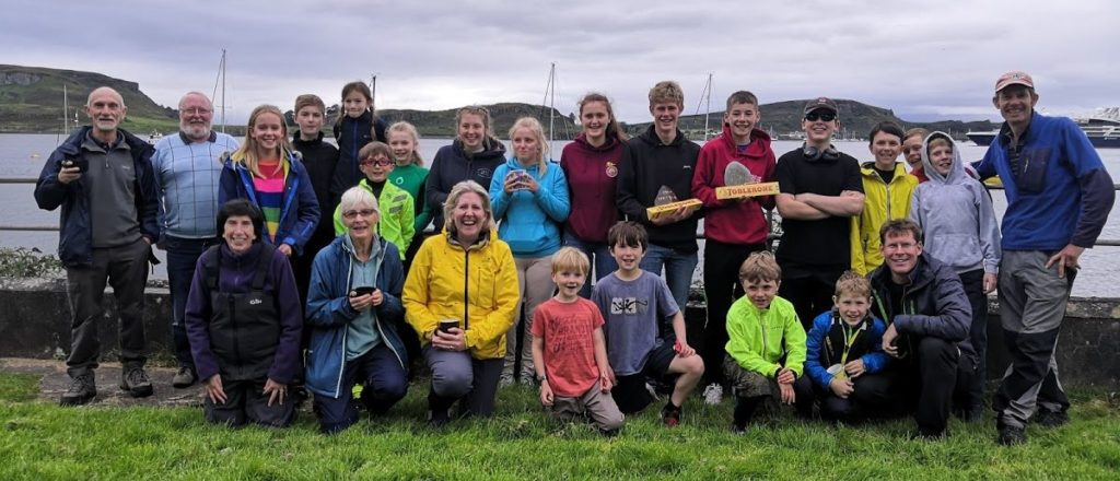 Light winds test competitors in Oban Sailing Club's 'Wee Peaks' Race