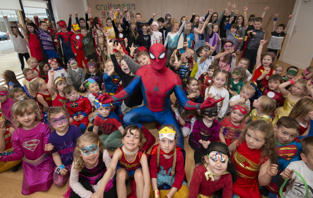 School pupils are superheroes for a day in aid of charity