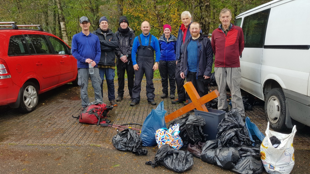 Volunteers remove 115kg of rubbish from Ben Nevis in annual clean-up