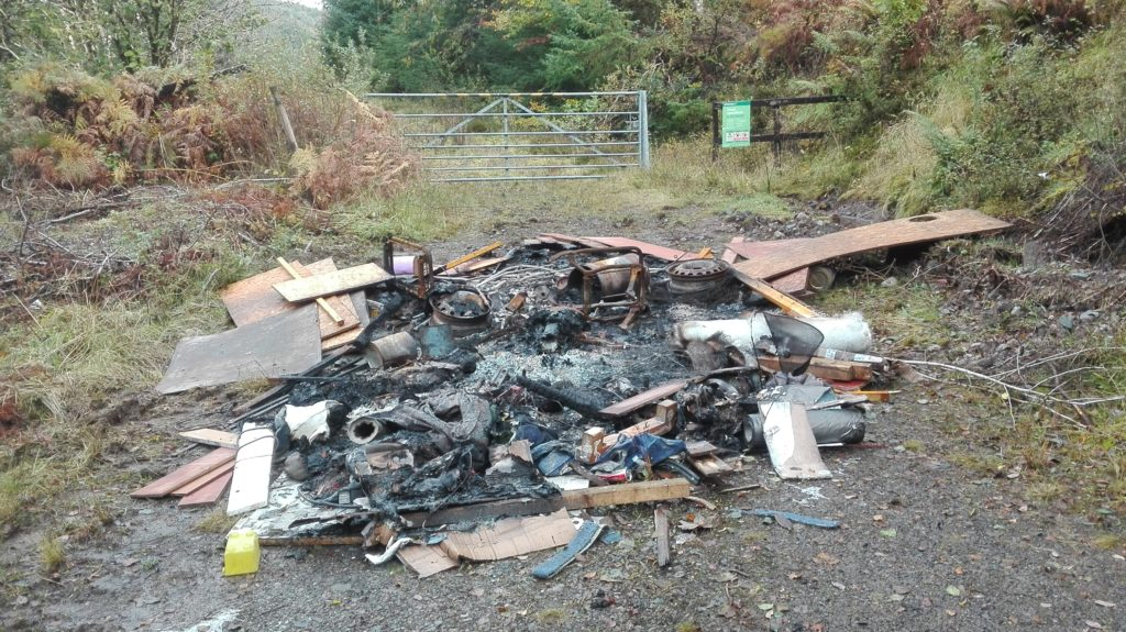 Fly-tippers strike near Loch Avich beauty spot