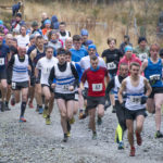 A field of 71 runners set off from the Braveheart car park on Lochaber Athletic Club's first event of their Winter League, the Cow Hill race. Photograph, Iain Ferguson, alba.photos NO F47 LAC COWHILL RACE 01