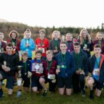 The trophy winners. Photograph: Abrightside Photography. NO F47 Leanachan cross country challenge trophy winners