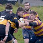 Callum Boyd fights his way through the Loch Lomond defence in Saturday's clash at Banavie. Photograph: Iain Ferguson, alba.photos NO F47 Lochaber v Lomond 03