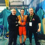 Siobhan Duncan, pictured with coaches, Kevin Kennedy, left, and Adam Watson, is Lochaber's first female boxing champion. NO F47 Siobhan winner