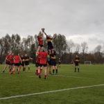 Lochaber struggled to make much impression against the strong running Glasgow side. NO F48 Lochaber rugby 01