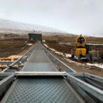 The new 80m travellator 'magic carpet' style conveyor lift. NO F48 NR Magic Carpet