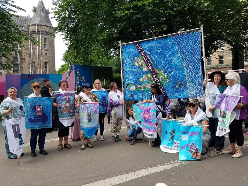 Banner raises celebration of island women