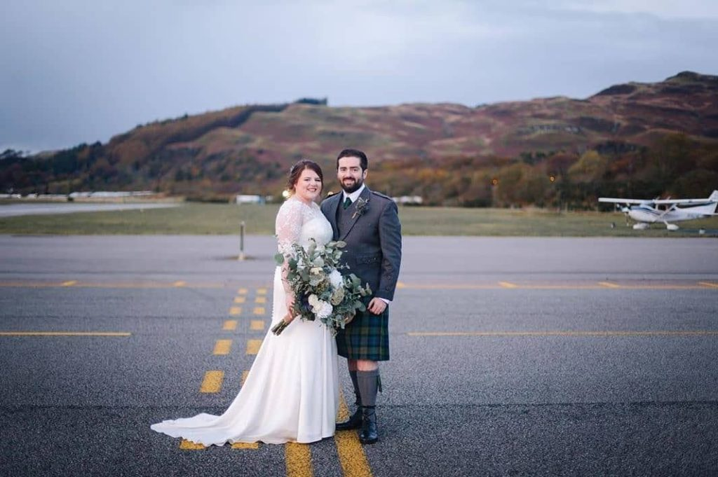 Married life takes off at Oban Airport