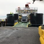 The new Coll linkspan receives its first ferry service.