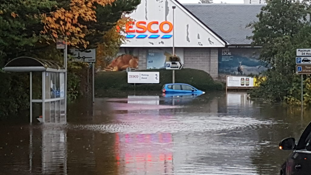 Give your views on Oban flood defences