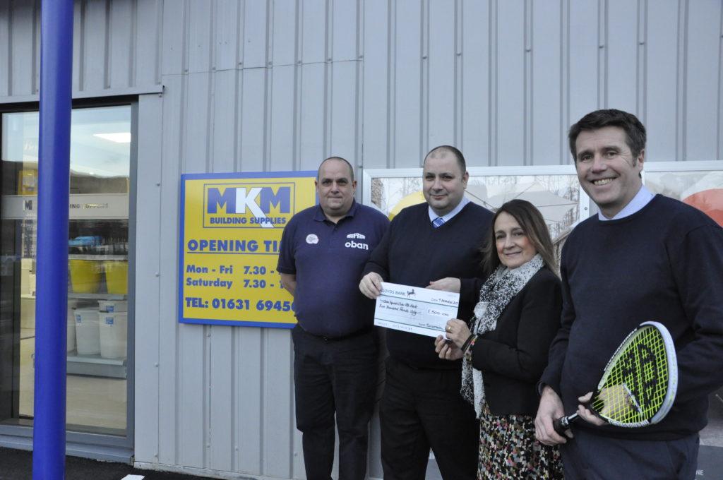 MKM supplies squash club with tournament backing