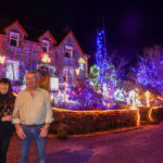 Maureen and Mike Drummond outside their guest house. DM_T52_ChristmasLights01