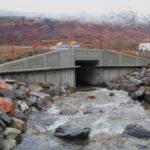 The new bridge in Glencoe is now open to traffic. NO F01 Allt Fhiodhan Bridge in Glencoe