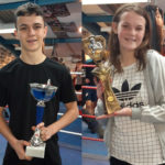 Some of the recipients of the first monthly Junior Boxing awards, from left Aiden Love, Sam MacMillan, Tamzin MacKenzie and Marcus MacAlpine. Photograph: Iain Ferguson, alba.photos NO F01 Boxing junior award winners